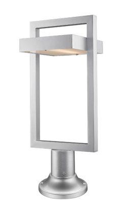 Lampe Piédestal Extérieure – Luttrel – Z-Lite – 566PHBR-553PM-SL-LED