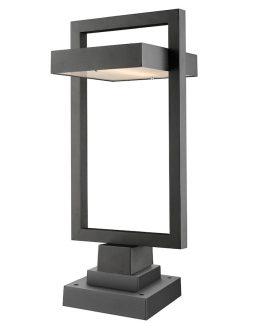Lampe Piédestal Extérieure – Luttrel – Z-Lite – 566PHBS-SQPM-BK-LED