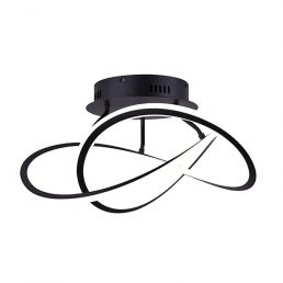 SEMI-PLAFONNIER LED, SERIE-120, LSF155A21BK