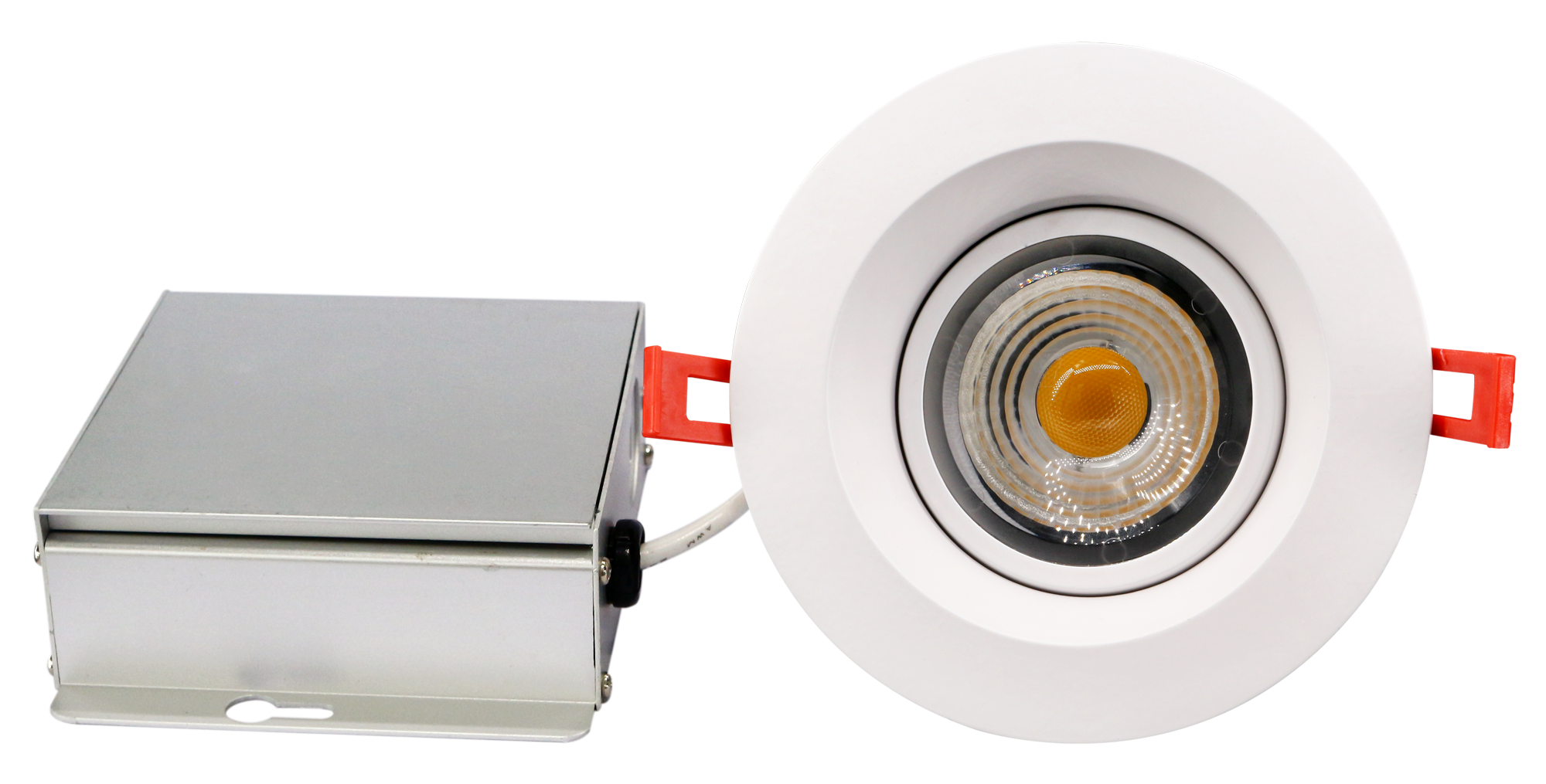 4inch round regressed gimbal with driver