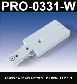 Connecteur De Départ De Type HaloCouleur BlancSérie 1-66