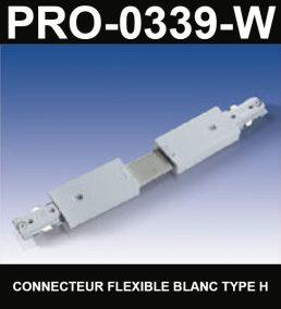 Connecteur De Rail Flexible De Type HaloCouleur BlancSérie 1-66
