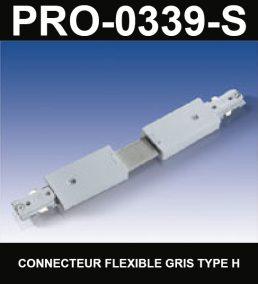 Connecteur De Rail Flexible De Type HaloCouleur ArgentSérie 1-66