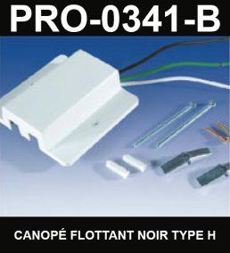 Canopé Flottant De Type HaloCouleur NoirSérie 1-66