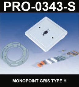 Monopoint De Type HaloCouleur ArgentSérie 1-66