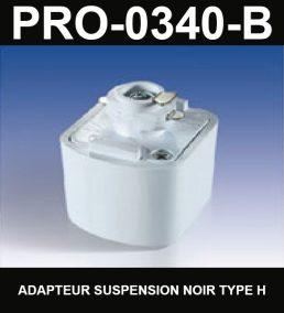Adapteur Pour Suspension De Type HaloCouleur NoirSérie 1-66