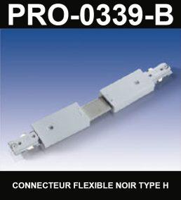 Connecteur De Rail Flexible De Type HaloCouleur NoirSérie 1-66