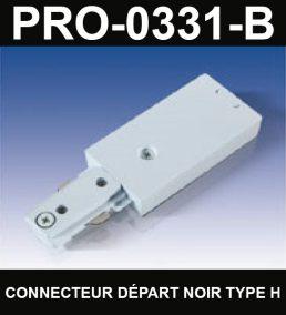 Connecteur De Départ De Type HaloCouleur NoirSérie 1-66