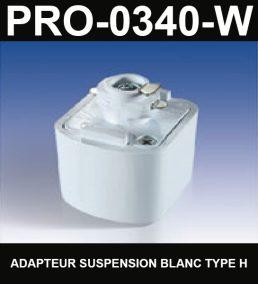 Adapteur Pour Suspension De Type HaloCouleur BlancSérie 1-66