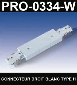 Union De Rail De Type HaloCouleur BlancSérie 1-66