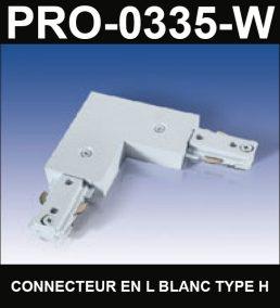Connecteur En L De Type HaloCouleur BlancSérie 1-66