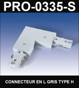 Connecteur En L De Type HaloCouleur ArgentSérie 1-66