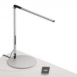 Lampe De Bureau Z-Bar Solo Gris, Base Standard Blanc Dou 3500K