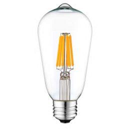 Ampoule LED-E26-ST58-CL-120V-8W-27K-DIM-600LM Dimmable