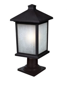 Lampe Piédestal Extérieure – Holbrook – Z-Lite – 507PHB-533PM-BK