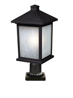 Lampe Piédestal Extérieure – Holbrook – Z-Lite – 507PHB-BK-PM