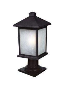 Lampe Piédestal Extérieure – Holbrook – Z-Lite – 507PHM-533PM-BK