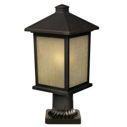 Lampe Piédestal Extérieure – Holbrook – Z-Lite – 507PHM-ORB-PM