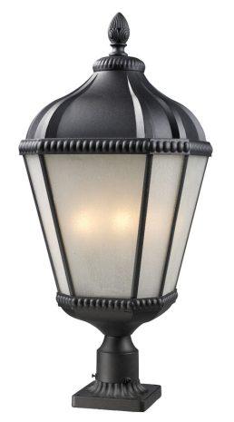 Lampe Piédestal Extérieure – Waverly – Z-Lite – 513PHB-BK-PM