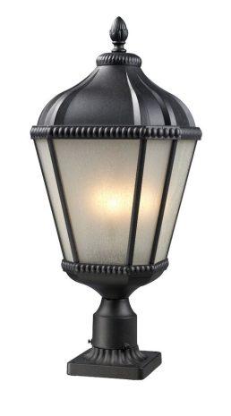 Lampe Piédestal Extérieure – Waverly – Z-Lite – 513PHM-BK-PM