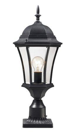 Lampe Piédestal Extérieure – Wakefield – Z-Lite – 522PHM-BK-PM