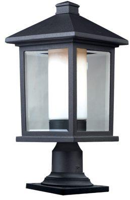 Lampe Piédestal Extérieure – Mesa – Z-Lite – 523PHB-533PM-BK