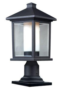 Lampe Piédestal Extérieure – Mesa – Z-Lite – 523PHM-533PM-BK