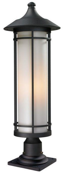 Lampe Piédestal Extérieure – Woodland – Z-Lite – 529PHB-533PM-BK