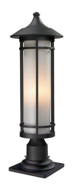 Lampe Piédestal Extérieure – Woodland – Z-Lite – 529PHM-533PM-BK