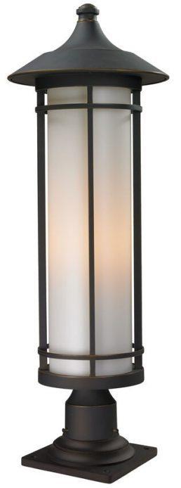 Lampe Piédestal Extérieure – Woodland – Z-Lite – 530PHB-533PM-ORB