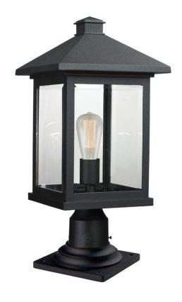 Lampe Piédestal Extérieure – Portland – Z-Lite – 531PHBR-533PM-BK