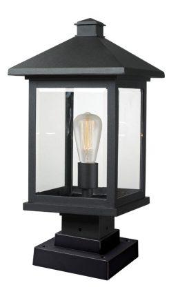 Lampe Piédestal Extérieure – Portland – Z-Lite – 531PHBS-SQPM-BK