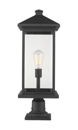 Lampe Piédestal Extérieure – Portland – Z-Lite – 531PHBXLR-533PM-BK