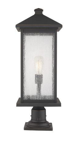 Lampe Piédestal Extérieure – Portland – Z-Lite – 531PHBXLR-533PM-ORB