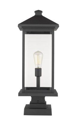 Lampe Piédestal Extérieure – Portland – Z-Lite – 531PHBXLS-SQPM-BK