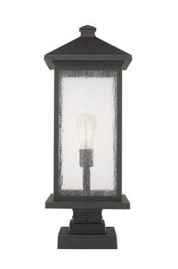 Lampe Piédestal Extérieure – Portland – Z-Lite – 531PHBXLS-SQPM-ORB