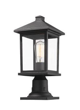 Lampe Piédestal Extérieure – Portland – Z-Lite – 531PHMR-533PM-BK