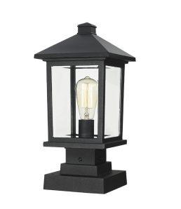 Lampe Piédestal Extérieure – Portland – Z-Lite – 531PHMS-SQPM-BK