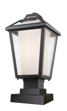 Lampe Piédestal Extérieure – Memphis Outdoor – Z-Lite – 532PHMS-SQPM-BK