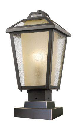 Lampe Piédestal Extérieure – Memphis Outdoor – Z-Lite – 532PHMS-SQPM-ORB