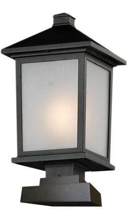 Lampe Piédestal Extérieure – Holbrook – Z-Lite – 537PHB-SQPM-BK