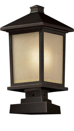Lampe Piédestal Extérieure – Holbrook – Z-Lite – 537PHB-SQPM-ORB