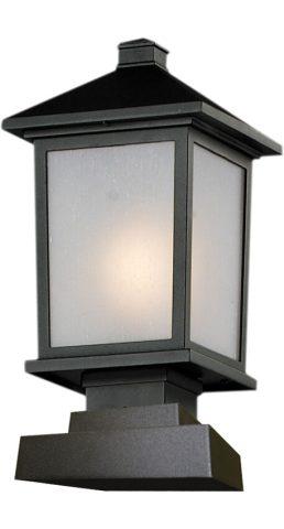Lampe Piédestal Extérieure – Holbrook – Z-Lite – 537PHM-SQPM-BK
