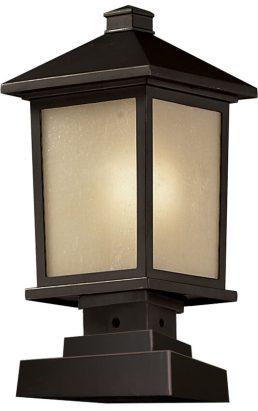 Lampe Piédestal Extérieure – Holbrook – Z-Lite – 537PHM-SQPM-ORB