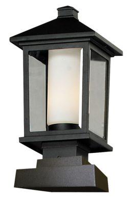 Lampe Piédestal Extérieure – Mesa – Z-Lite – 538PHM-SQPM-BK
