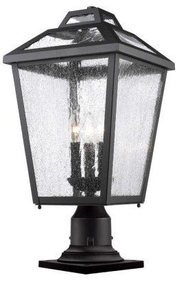 Lampe Piédestal Extérieure – Bayland – Z-Lite – 539PHBR-533PM-BK