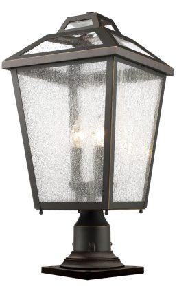 Lampe Piédestal Extérieure – Bayland – Z-Lite – 539PHBR-533PM-ORB