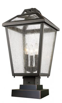 Lampe Piédestal Extérieure – Bayland – Z-Lite – 539PHBS-SQPM-ORB