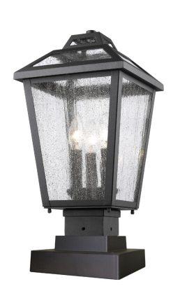 Lampe Piédestal Extérieure – Bayland – Z-Lite – 539PHMS-SQPM-BK