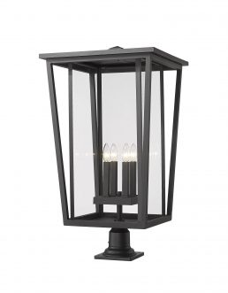 Lampe Piédestal Extérieure – Seoul – Z-Lite – 571PHXXLR-533PM-BK